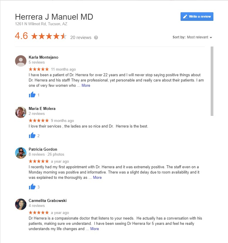 Herrera Gynecology Reviews